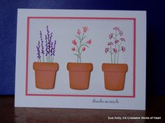 Pocket Silhouette Thank You Pots by Ink-Creatable WOH - Cards and Paper Crafts at Splitcoaststampers