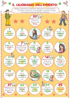 GRUPPO SICOMORO: CALENDARIO DELL'AVVENTO Christmas Eve Box, Winter Christmas, Xmas, Christmas Activities, Christmas Crafts For Kids, Christmas Decorations, Advent Calendars For Kids, Catholic Prayers, Christmas Inspiration