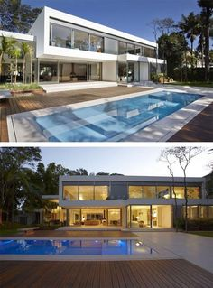 Modern two story home Morumbi Residence Modern Two Story Home with Heat Control in Brazil