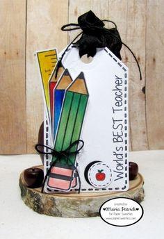Created by Maria Patrick for Paper Sweeties September Rewind! Handmade Teachers Day Cards, Teacher Cards, September 16, School Themes, Teachers' Day, Best Teacher, Teacher Appreciation, Paper Crafts, Create