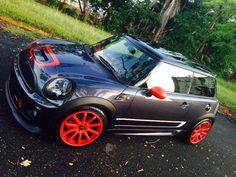 Mini Cooper S Tuning Kit John Cooper Works Grey Black roof+orange wheels