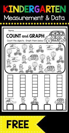 Measurement and Data Kindergarten Math Unit – FREEBIES