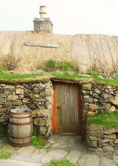 The traditional Scottish blackhouse is environmentally friendly in many ways. Gearrannan Blackhouse by DerickCarss, via Flickr