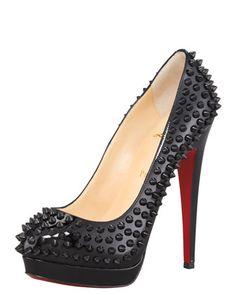 Alti Spiked Pump by Christian Louboutin at Bergdorf Goodman. So sexy, just don't rub it against your leg or someone else!