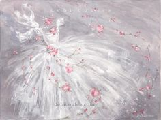 Fleur de Dance original painting by Debi Coules. Available at www.debicoules.com