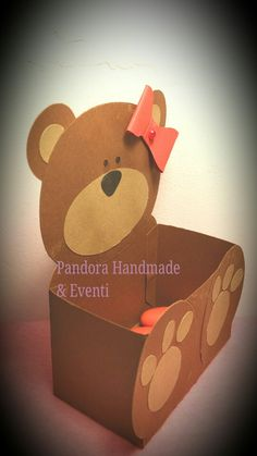 Orsetto porta confetti by Pandora Handmade & Eventi