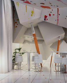 unusual restaurant 5 PRACOWNIA Club&Restaurant Creatively Simulating a Painters Studio