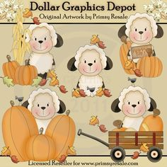 Fall Sheep - Clip Art - $1.00 : Dollar Graphics Depot, Quality Graphics ~ Discount Prices