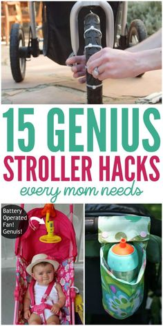 15 Stroller Hacks Every Mom Needs to Know - Single Mom Hacks - Ideas of Single Mom Hacks - 15 Genius Stroller Hacks Bob Stroller, Toddler Stroller, Stroller Bag, Umbrella Stroller, Jogging Stroller, Toddler Toys, Stroller Storage, Kids And Parenting, Parenting Hacks