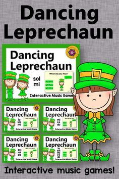 Melody Games! These interactive music games are perfect anytime but especially around St. Patrick's Day. Get ready for the dance moves to break out with your elementary music students!! Great for centers or whole group instruction.