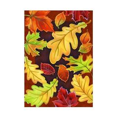 Toland Home Garden 102533 Leafy Leaves House Flag (99 DKK) ❤ liked on Polyvore featuring home, outdoors, outdoor decor, outdoor, outside garden decor, garden flags, garden decor, outdoor garden decor and autumn garden flags