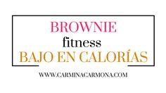 Recetas fitness, postres bajo calorías. Brownie de chocolate en taza.
