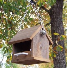 Bird Feeder, Primitive Rustic - Recycled Natural Weathered Rough Cedar - with Perches by PrimitiveWoodworks for $22 #zibbet #rustic