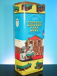 1950s Lincoln Logs #vintage #toys