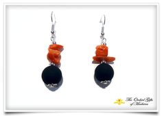Lava stone earrings 022 - The Orchid Gifts Madeira