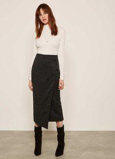 c29d683b710d Black Leopard Jacquard Skirt   Mint Velvet Mint Velvet Clothes, Leopard  Pattern, Black Satin