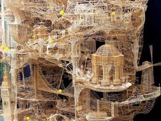 amazing construction with simple toothpicks