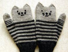 Kitty cat mittens