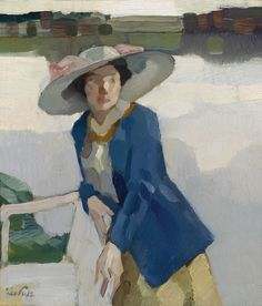 Leo Putz (18 June 1869, in Merano - 21 July 1940, in Merano) was a Tyrolean painter. His work encompasses Art Nouveau, Impressionism and the beginnings of Expressionism. Figures and landscapes are his predominant subjects. Leo Putz was born in Merano in South Tyrol, Italy, in 1869. His artistic career began in 1885 under the aegis of his stepbrother.