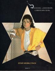 "Michael Jackson Liberian Girl 7"" Single Super Rare Star Mobile Pack Epic – 654947 9"