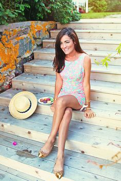 summer style | lilly pulitzer dress, kate spade shoes | sarah vickers