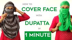 How to Wrap Face with Dupatta in Just 1 Minute How to cover your face with scarf. Wondering why women tie a scarf around their face and hair when they travel. Ways To Tie Scarves, Ways To Wear A Scarf, How To Make Scarf, How To Wear Scarves, How To Wear Hijab, Face Wrap, Indian Face, Scarf Knots, Head Scarf Styles