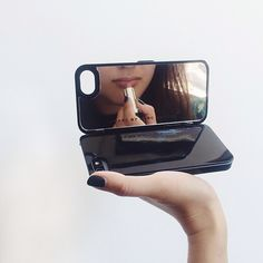 Redefining the pocket mirror. Marc by Marc Jacobs Standard Supply Compact Mirror iPhone Case available in stores or at marcjacobs.com!