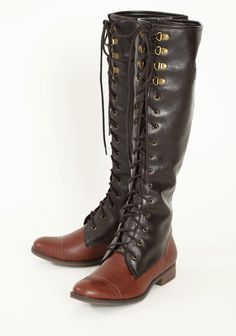 Lace-up Boots - Ruche