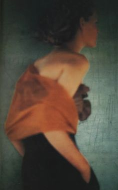A Romeo Gigli advertisement photographed by Paolo Roversi  -  February 1989 Vogue UK