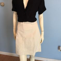 NWT cream color everyday LOFT skirt size 8. NWT cream color everyday LOFT skirt size 8. The NWOT Black Worthington shrug style Cardigan is also available for sale check my closet for listing. LOFT Skirts Pencil