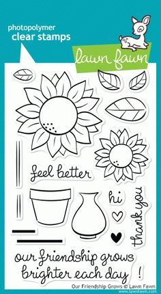 #lawnfawn #CHAS CHA Summer Preview Lawn Fawn Stamps
