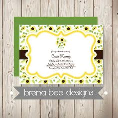 Personalized  Sunflower Summer  Shades of by brenabeedesigns, $14.75