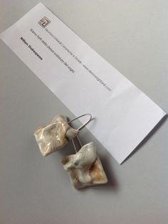 SWEET DREAMS  Orecchini - porcellana - argento  Earrings - porcelain - silver