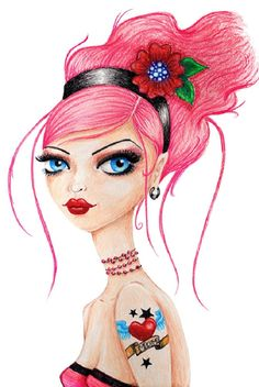 I Heart Mom by Stephanie Zahalka Rockabilly Tattoo Canvas Art Print