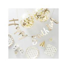 Artikelbild zuordnen - CreaDIVA.ch Ballon- und Geschenkshop Happy Birthday Girlande, Party In A Box, Place Cards, Gold, Place Card Holders, Stud Earrings, Teller, Jewelry, Products