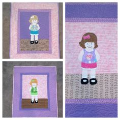 Dress Up Dolly Quilt by KJkritters on Etsy, $40.00