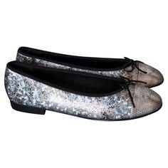 Chanel Flats in Silber #vintagefashion