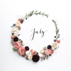 Happy July // Another new month // New goals // Summer is finally here Seasons Months, Months In A Year, 12 Months, Hello Novembre, Month Flowers, Happy July, New Month, Birthday Gifts For Women, Birthday Month