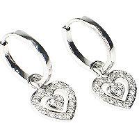 Diamantkreoler med diamanthjerter - Romanza Diamantørepynt Product Description, Bracelets, Silver, Jewelry, Jewlery, Money, Bijoux, Jewerly, Bracelet