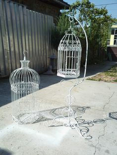 How to make a birdcage support / hanger