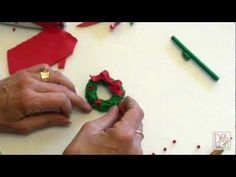 Polymer Clay - How to make a Christmas Wreath