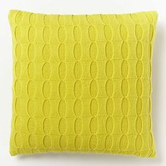 Ribbon Knitted Pillow Cover - Peridot #westelm 20x20