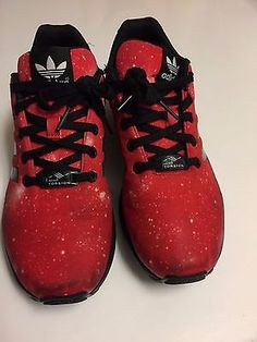 sale retailer cc898 be55b new adidas ZX FLUX GALAXY Youth Shoes sz 6 38.5 red kids sneakers run gym  tennis