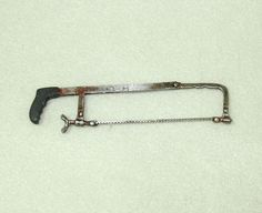 Dollhouse Miniature Unfinished Metal Hack Saw