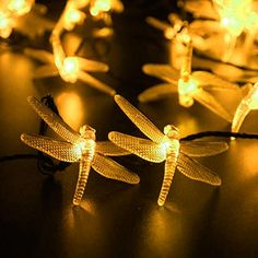 LED SopoTek led string 30 LED 2 Modes Dragonfly Solar Fairy String Lights,waterproof solar led christmas lights,indoor and Outdoor, Gardens Wedding Christmas Party decrations(Warm white) Led Christmas Lights, Outdoor Christmas, Christmas Wedding, Solar Led String Lights, Christmas Party Decorations, White Lead, Garden Wedding, Light Colors, Outdoor Gardens