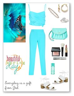 """""""Bright Colors of Spring"""" by rboowybe ❤ liked on Polyvore featuring Tahari, Juicy Couture, Allurez and Bobbi Brown Cosmetics"""