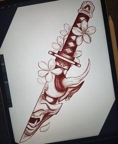 Tattoo Design Drawings, Tattoo Sleeve Designs, Tattoo Sketches, Sleeve Tattoos, Badass Tattoos, Body Art Tattoos, Hand Tattoos, Tattoos For Guys, Japanese Tattoo Art