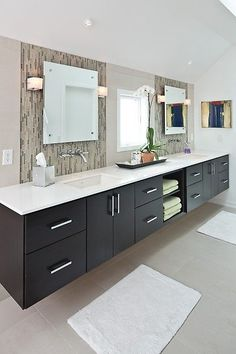 Over 130 Stylish Bathroom Inspirations with Modern Design https://www.futuristarchitecture.com/2295-stylish-bathrooms.html #bathroom #interior Check more at https://www.futuristarchitecture.com/2295-stylish-bathrooms.html