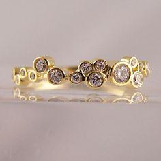 Random Set Rubover Rings - Ring Jewellery