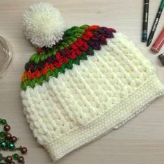 The creamy crochet baby beanie is the perfect set up of a crochet beanie with a flexibility for color combos swaps. I designed this beanie with much love! Beach Crochet, Crochet For Boys, Boy Crochet, Crochet Vest Pattern, Crochet Patterns, Free Pattern, Crochet Ideas, Quick Crochet, Free Crochet